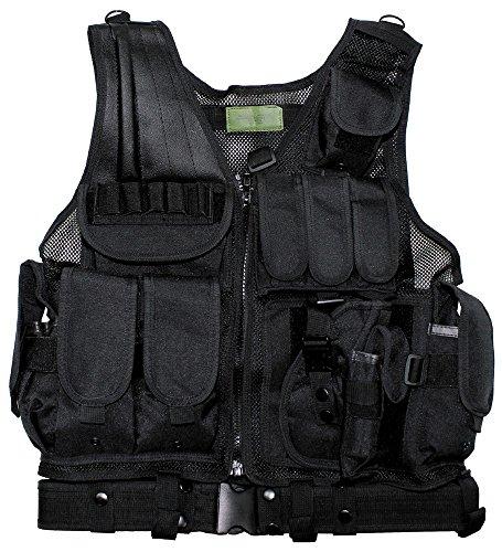 Weste, USMC, schwarz, Koppel, Holster, div. Taschen