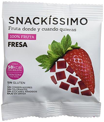 Snackíssimo Snack de Fresa - Pack de 15 bolsas 270 gr