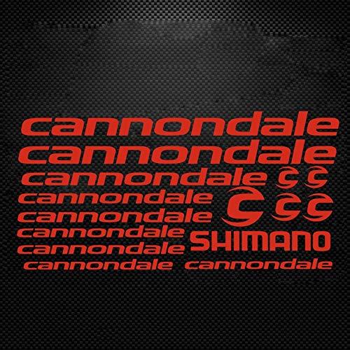 CECILIAPATER Cannondale Fahrradrahmen-Aufkleber, Shimano Fox MTB DH Cycling Road Ride Aufkleber, Rennrad, Rahmen, Vinyl, DIY