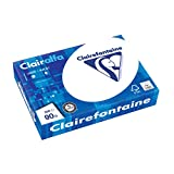 Clairefontaine 2896C Papier d'imprimante Clairalfa (500 feuilles au format DIN A4 avec 90 grammes / papier de copie opaque avec qualité A spéciale) Blanc