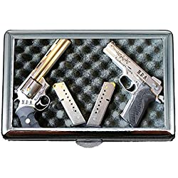 Boîte/boîte de Rangement de Cigarettes, Briquet, boîte à Cigarettes, Pistolets, étui à Cartes de Visite Porte-Cartes en Acier Inoxydable