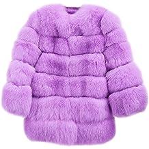 FOLOBE Women Invierno Caliente Chaqueta de Piel sintética Abrigo