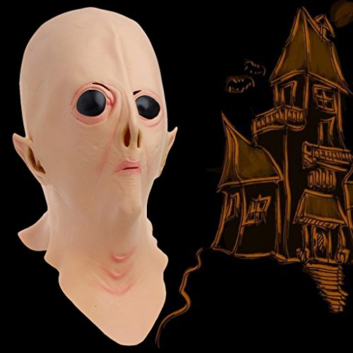 dairyshop Halloween Latex Alien Ufo Full Face Scary Maske, Masquerade Kostüm Party Spielzeug (Kostüm Ghost Face Womens)
