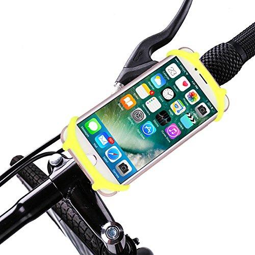 orabike Bike Phone Halter für Jeden Smartphones, stoßfest Break-Free Universal Silikon Bike Halterung, für Fahrräder, Motorräder, Roller, Baby Kinderwagen und Golf-Trolleys, Gelb