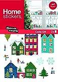 Nouvelles Images Stickers Design Village de Noël Enneigé, Polyvinyle, Multicolore, 32 x 23 x 0,02 cm