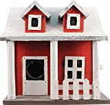 Songbird Essentials 008117Lattenzaun Cottage Vogelhaus, rot/weiß