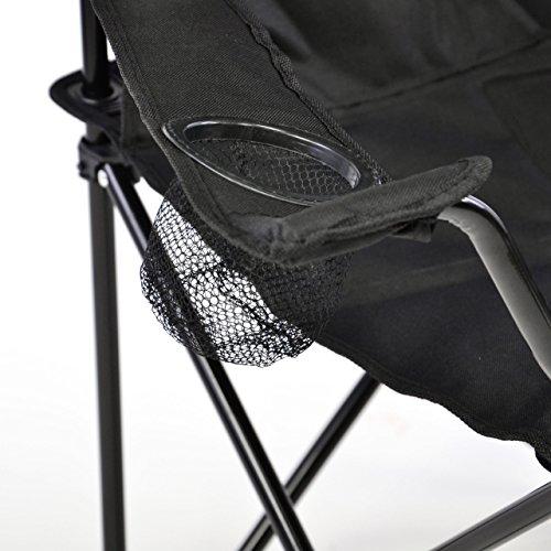 Nexos Faltstuhl Campingstuhl Klappstuhl mit Armlehne und Getränkehalter praktisch robust leicht - 2
