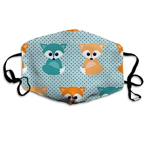 Vbnbvn Unisex Mundmaske,Wiederverwendbar Anti Staub Schutzhülle,Baby Foxes Cotton Mouth Masks,Anti-dust Face Mask for Women and (Fox Woman Kostüm)
