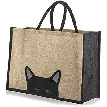 I Love My Cat Design 33cm High Black Cat Reusable Shopping Bag