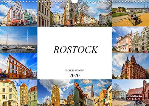 Rostock Impressionen (Wandkalender 2020 DIN A3 quer): Zwölf einmalig schöne Bilder der Stadt Rostock (Monatskalender, 14 Seiten ) (CALVENDO Orte)