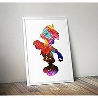 Pinocchio Inspired Watercolor Poster Print regalos - Carteles de TV/películas alternativas en varios tamaños (Marco no incluido)