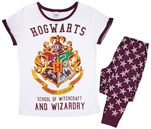 Lora Dora Harry Potter Ladies 100% Cotton Pyjamas Hogwarts Short Sleeve Novelty PJ Set UK 8-22