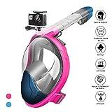 StillCool Máscara de Buceo para Snorkel Plegable Panorámica Cara 180°Respiración Fácil...
