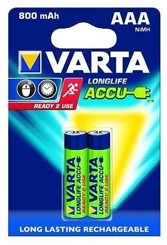 Micro-Akku VARTA LONGLIFE ACCU Ready2Use Ni-MH, 800mA, Typ AAA, 2er Blister