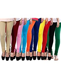 ROOLIUMS ® (Brand Factory Outlet) Women's Leggings Combo (Pack Of 10) 160 GSM, 4 Way - FREE SIZE (Free Size, BE...