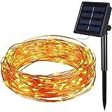 Amir Solar Lichterkette, Weihnachten Decoration , 8 Modes LED Solar Lichterkette, 33ft 100 LED ...