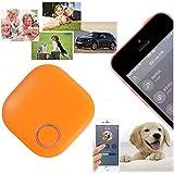 Mini Sans Fil GPS Traceur, GOCHANGE Intelligent Anti-Perte Porte-Clé avec Alarme de Localisation (iPhone HTC Android) pour Enfant, Vieux, Animaux, Porte-Monnaie, Téléphone, Orange