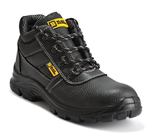 Mens Leather Safety Waterproof Boots S3 Steel Toe Cap Work Shoes Ankle...