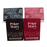 Zantec 2pcs / set Poker Star Texas Washable Poker Impermeabilice los naipes plásticos para el club