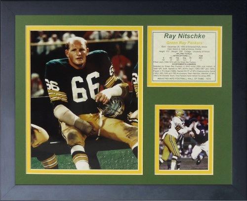 Legenden Sterben Nie Ray Nitschke gerahmtes Foto Collage, 11x 35,6cm