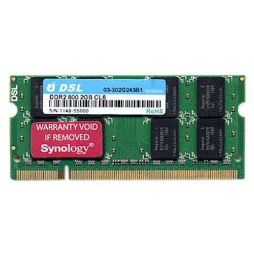Synology Arbeitsspeicher 2GB (800 MHz) DDR2-RAM Zur Erweiterung DiskStation (Ecc Modul Mhz 800)