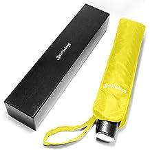 Paraguas Plegable Cortavientos Ventilado Apertura y Cierre Automáticos, Viaje Paraguas para Hombre y Mujer Extremadamente