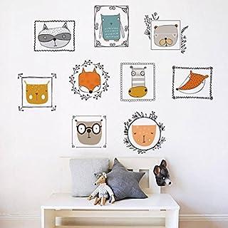 CHENG YUAN Cartoon owl photo children room kindergarten wall decoration diy fox wall stickers murals wall stickers cartoon