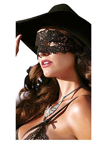 Bestgift Damen Spitze Abschlussball Masken Party Maske faschingsmasken Maskerade maskenball Schwarz (Spitze Für Masken Abschlussball Maskerade)