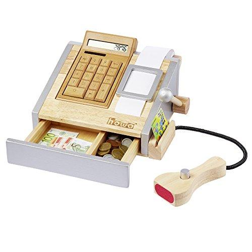 Preisvergleich Produktbild howa Spielkasse mit voll funktionsfähigem Rechner aus Holz incl. Spielgeld 4873