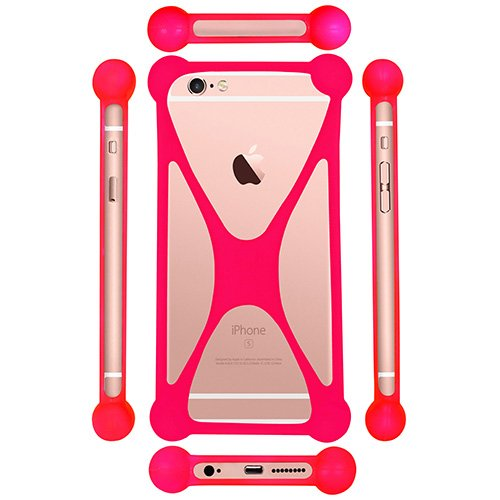Casotec Universal Silicone Bumper Frame Soft Gel Phone Case Cover for Micromax Canvas Knight A350 - Pink  available at amazon for Rs.149