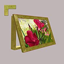 Molduras y cuadros Garcia - Cubrecontador de flores con moldura dorada - Madera - Color - Dorado - Tamaño - 43X33X4