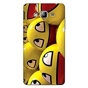 CrazyInk Premium 3D Back Cover for Samsung On7 Pro - Smiley