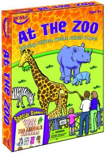 At the Zoo: Dover Fun Kit