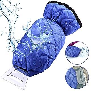 Gifort Eiskratzer mit Handschuh, Auto Winter Eiskratzer Kratzer Eiskratzer Handschuh Für Auto Windschutzscheibe Und Fenster Schneeschaufel Eisschaber (blau)