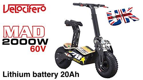 Velocifero Mad 2000W 60V de litio 20Ah Scooter eléctrico