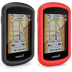 TUSITA Funda para Garmin Edge Explore GPS - Protector de Silicona Protector de Piel - Pantalla táctil Accesorios para computadora de Ciclismo (2-Pack)