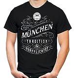 Mein leben München Männer und Herren T-Shirt | Fussball Ultras Geschenk | M1 Front (L, Schwarz)