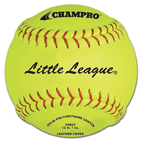 Champro Little League Poly Leather Cover, Red Set (Optic Yellow,