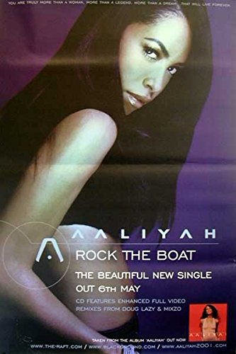 Aaliyah: Rock The Boat | original UK Promo Poster Übergrösse XL (Aaliyah Poster)