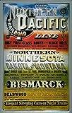 Blechschild Northern Pacific Eisenbahn Bismarck USA retro Schild Nostalgieschild