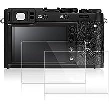 Pellicola Protettiva per Fujifilm X100F, AFUNTA 2 Pack [Antigraffi] [Senza Bolle] Pellicola Vetro Temperato Screen Protector Proteggi Schermo per Fotocamera Digitale