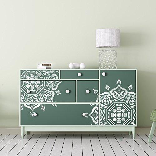 Stencil circolare per medaglione bukhara per mobili for Stencil per mobili cucina
