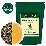 Tè Kashmiri Kahwa - Tè indiano originale Chai con zafferano (50 tazze), tè verde di altissima qualità miscelato con zafferano Kashmiri, mandorle, cardamomo e cannella - 100g