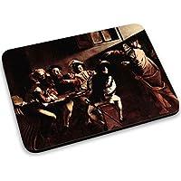 Caravaggio - Appeals Of St Matthew, Mouse Pad Tappetino per Mouse Mouse Mat con Disegno Colorato Antiscivolo in Gomma di Base Ideale per Giocare 250 x 190mm. - Gomma Car Mats