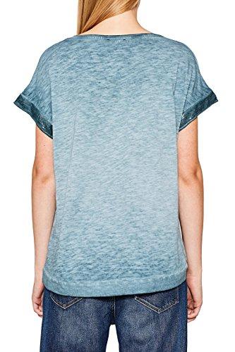 ESPRIT Damen T-Shirt Blau (Petrol Blue 450)
