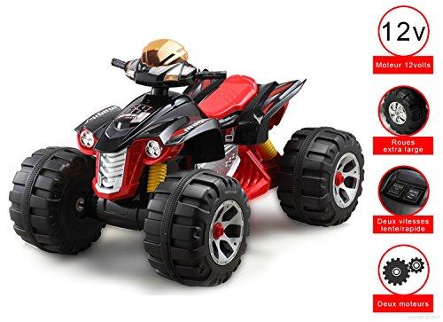 Monster quad electrique , 12 volts , 2 moteurs-JS318NOIR