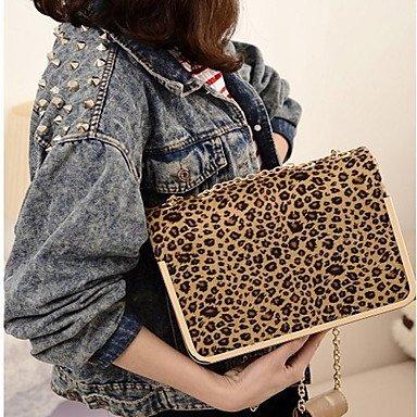 Mode-Leopard-Kette Crossbody-Tasche Black