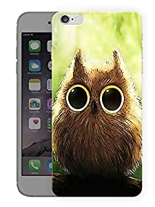 "Humor Gang Cute Owl Eyes Printed Designer Mobile Back Cover For ""Apple Iphone 6 PLUS - 6S PLUS"" (3D, Matte Finish, Premium Quality, Protective Snap On Slim Hard Phone Case, Multi Color)"
