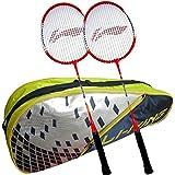 [Sponsored]Li-Ning ABDJ222 Smash XP 709 Combo (Li-Ning ABDJ222 Badminton Kitbag + Li-Ning 709 Badminton Racquet, Set Of 2) - Yellow Bag
