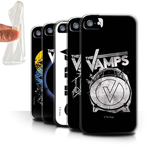 Offiziell The Vamps Hülle / Gel TPU Case für Apple iPhone SE / Pack 6pcs Muster / The Vamps Graffiti Band Logo Kollektion Pack 6pcs